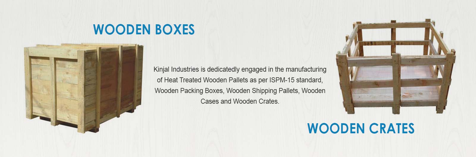 Wooden Boxes, Wooden Crates Manufacturers in Kutch