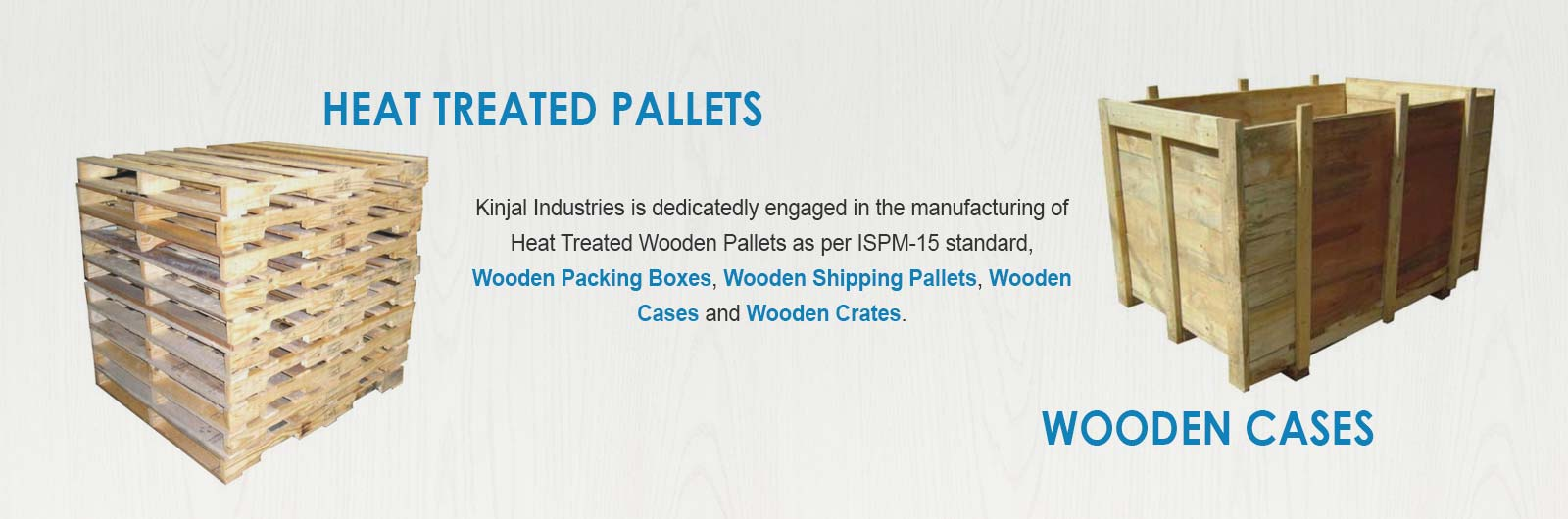 Heat Treated Pallets, Wooden Cases Manufacturers in Kutch